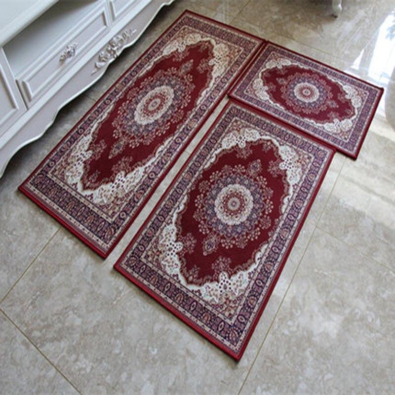 3pcs Anti Slip Livingroom Floor Mat Set Kitchen Carpets Rugs Thicken  Polyester Bedroom Carpet Rug
