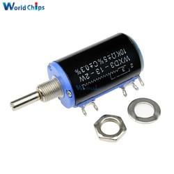 WXD3-13-2W de precisión negro 10K ohm WXD3-13 2W, potenciómetro giratorio lateral, multigiro, bobinado, lineal, Kit Diy