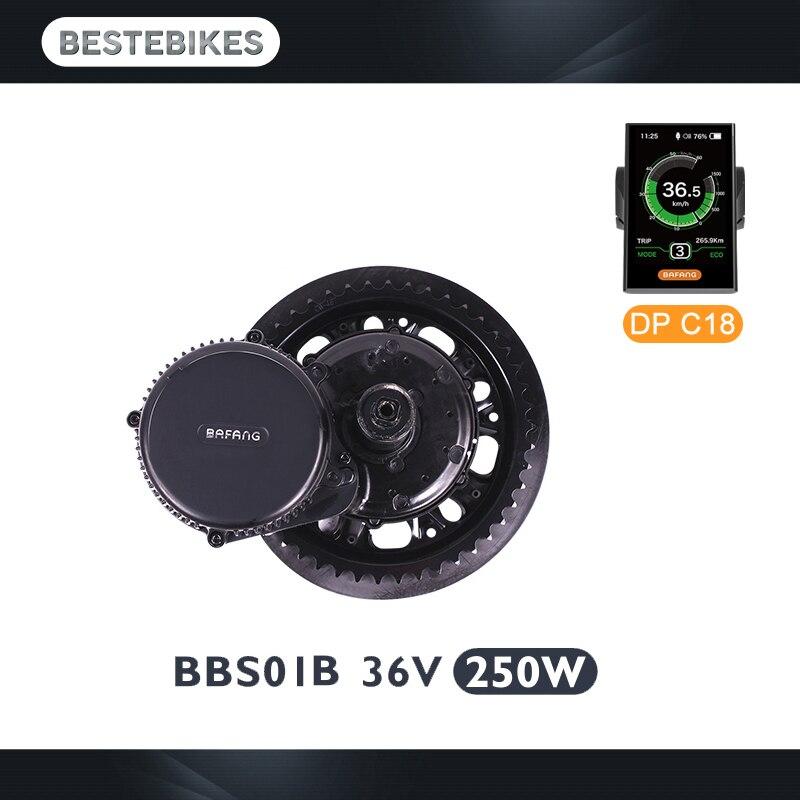 Bafang motor BBS01 BBS01B 36 V 250 W kit de conversão ebike bicicleta elétrica meados de acionamento elétrico de conversão do motor bicicleta elétrica kit