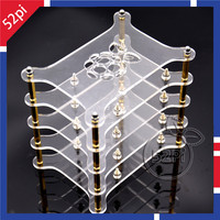 4 Layer Transparent Acrylic Case Clear Shell Enclosure With Logo For Raspberry Pi 2 Model B