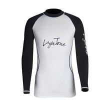 Layatone Rash Guard Men T-Shirt Long Sleeves Swimwear Swimsuit Surfing Bathing Suit Sport Fitness Gym Pants UV 50+ Swimming Suit