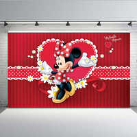 Newborn Photocall Pink Minnie Mouse Dance Custom Photo Studio Background photography Backdrop 7x5ft Vinyl