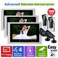 Homefong 10 PULGADAS HD 1200TVL Video de La Puerta Sistema de Intercomunicación Del Timbre Del Teléfono 3 xMonitor 2x cámara de la puerta delantera y 2x seguridad cámara