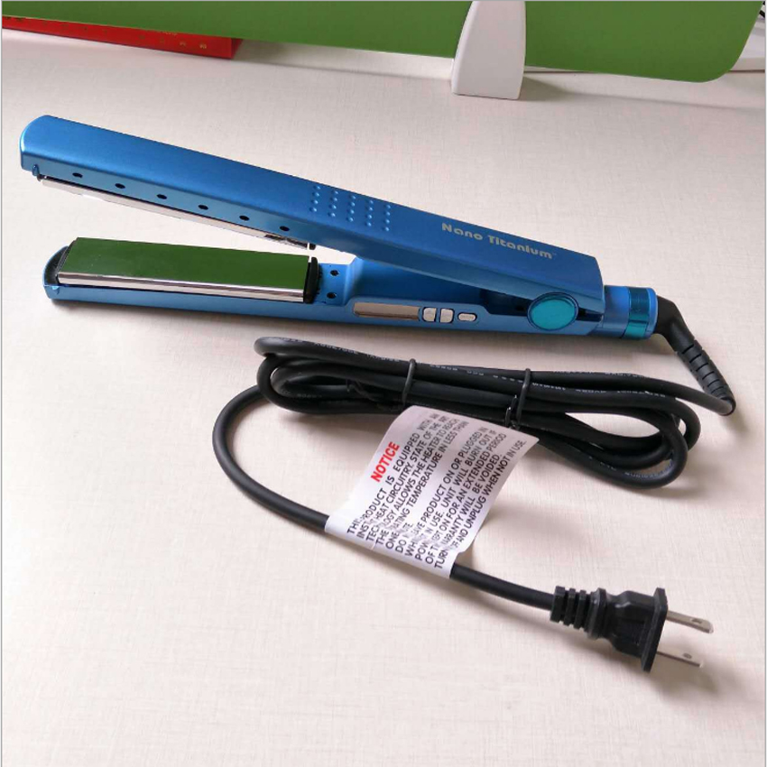 Professional hair Iron hair flat iron 11/4 nano titanium 450F temperature Fast hair straightener