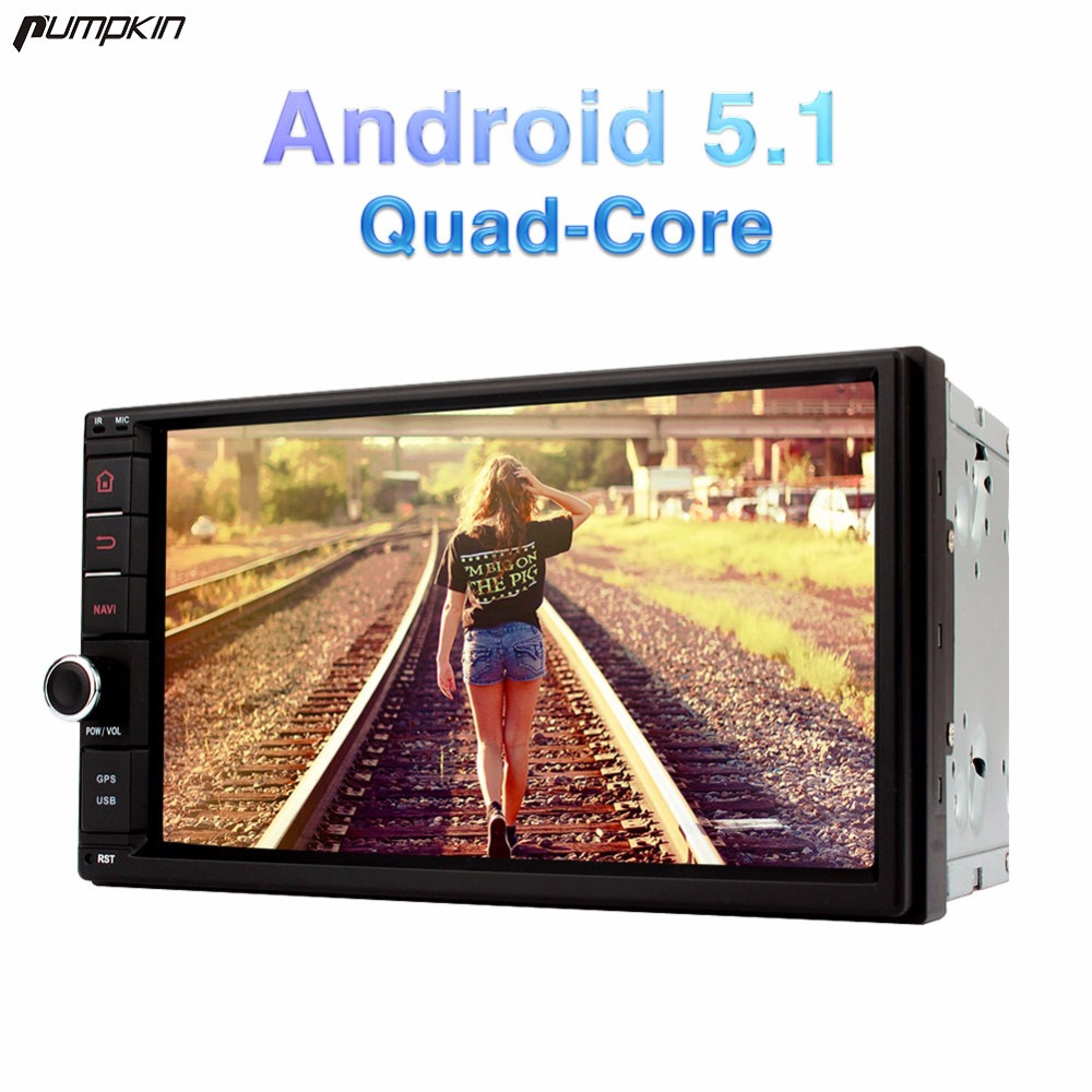pumpkin 2 din 7 inch android 5 1 universal car dvd player. Black Bedroom Furniture Sets. Home Design Ideas