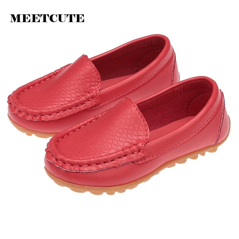 MEETCUTE Bady Shoes Soft Shoes Baby Boys and Girls 3 Color Soft PU Leather Shoes Avaible 5 Size Choose