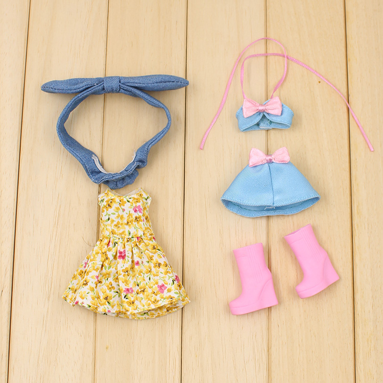 7b9ec8540b3ff US $15.29 10% OFF|T02 X058 Blyth Doll clothes 1/6 dolls Accessories  handmade middie Bikini Skirt Headband Boots Set-in Dolls Accessories from  Toys & ...