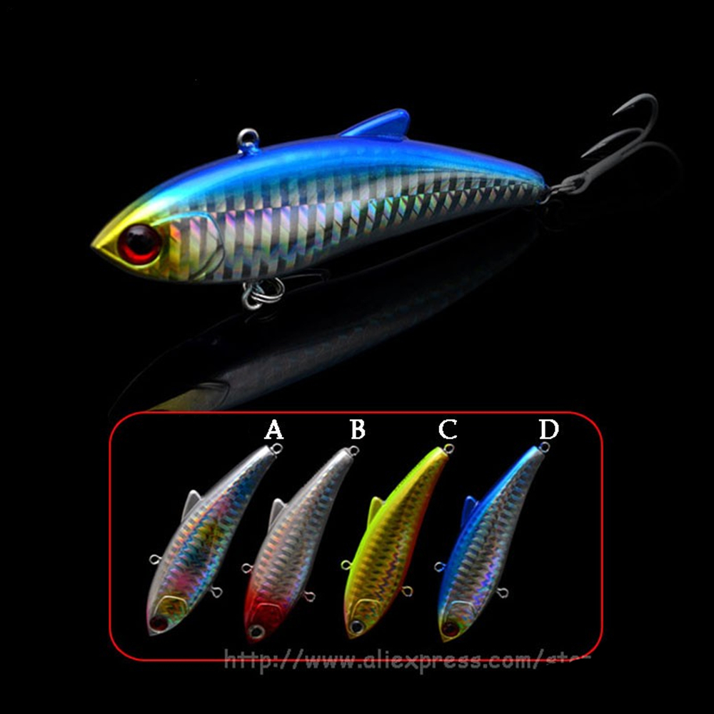 Le-Fish VIB Fishing Lure Hard Artificial Bait 80mm/20g Spinning Casting Ocean Fishing With VMC Treble Hook