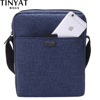 Men Handbag Bag New Male Men's Shoulder Bag For Ipad Canvas Crossbody Bag Light Waterproof Messenger Bag Casual Blue
