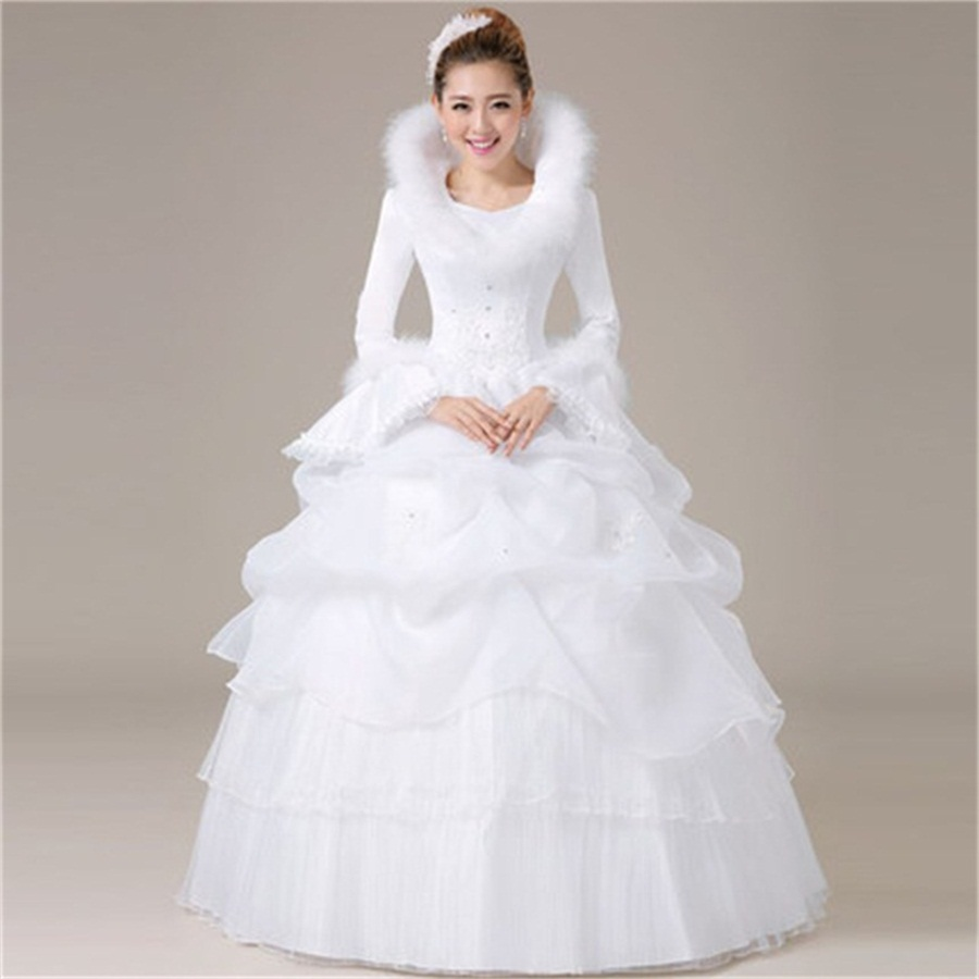 Christmas wedding dress korean - Hot Sale Wholesale Manufacturers Of 2017 New Warm Wedding Dress Korean Princess Bride Wedding Dress Hot
