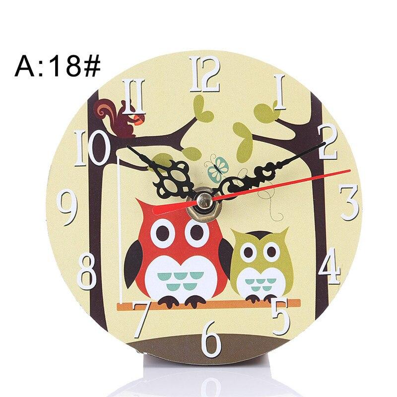 Retro Owl Style Wooden Wall Clocks Silent Living Room Home Decor Nice Xmas Gift