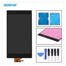 Negro Para Sony Xperia Z Ultra XL39h XL39 C6802 C6806 C6843 C6833 LCD Display de Pantalla Táctil Digitalizador Asamblea Parte + adhesivo + Herramientas