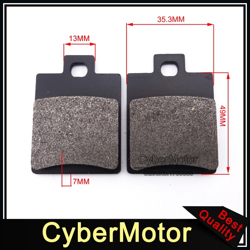 ATV Disc Caliper Brake Pads Shoes For Chinese Quad 4 Wheeler 50cc 70cc 90cc 110cc 125cc 150cc 200cc 250cc Taotao Sunl Roketa rear foot brake master cylinder pump 50cc 70cc 90cc 110cc 125cc 150cc 200cc 250cc dio monkey bike dirt pit bike new