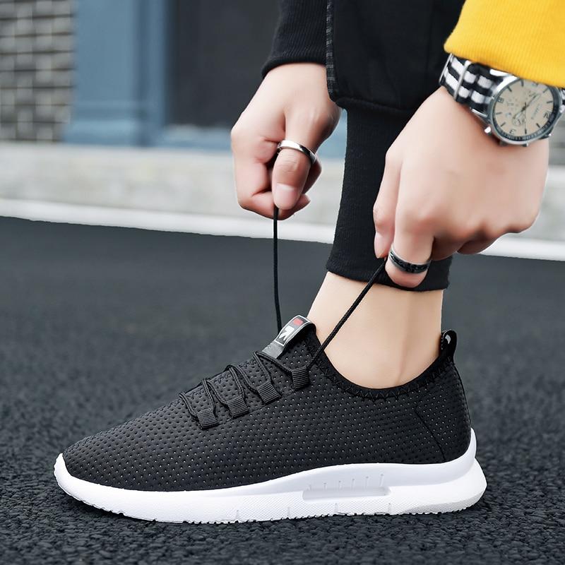 Pure Color Light Casual Shoes Mesh Cloth Men's Shoes Breathable Walking Jogging Shoes Large Size Men's Shoes 46 (16)
