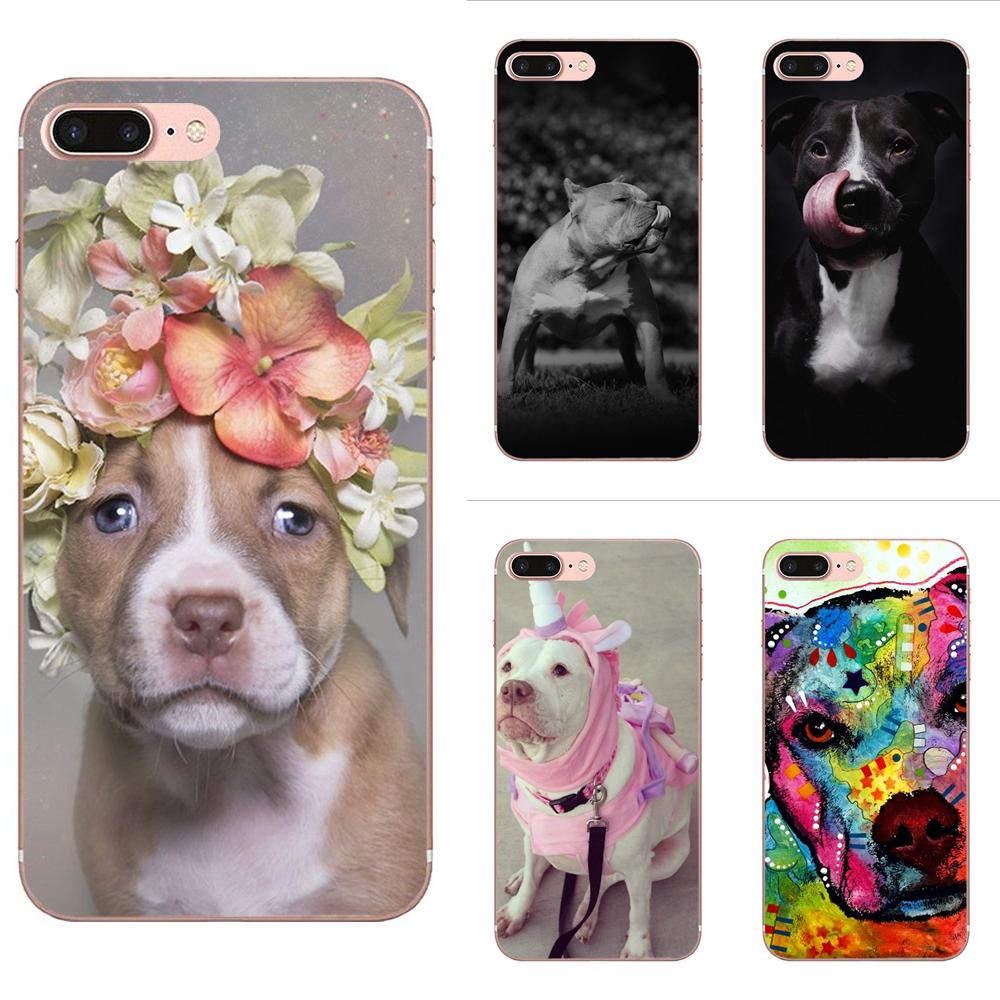 Cute And Lovely Dog Pitbull Soft For Galaxy J1 J2 J3 J330 J4 J5 J6 J7 J730 J8 2015 <font><b>2016</b></font> 2017 2018 mini Pro image