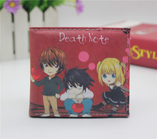 Japón del anime DEATH NOTE L. Lawliet monedero cosplay mujeres Hombres bifold Monederos Tarjeta monedero de La Moneda