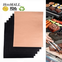 Hoomall 44x33cm Glass Fiber PTFE Nonstick BBQ Grill Mat Pad Sheet Portable Easy Clean Cooking Tool