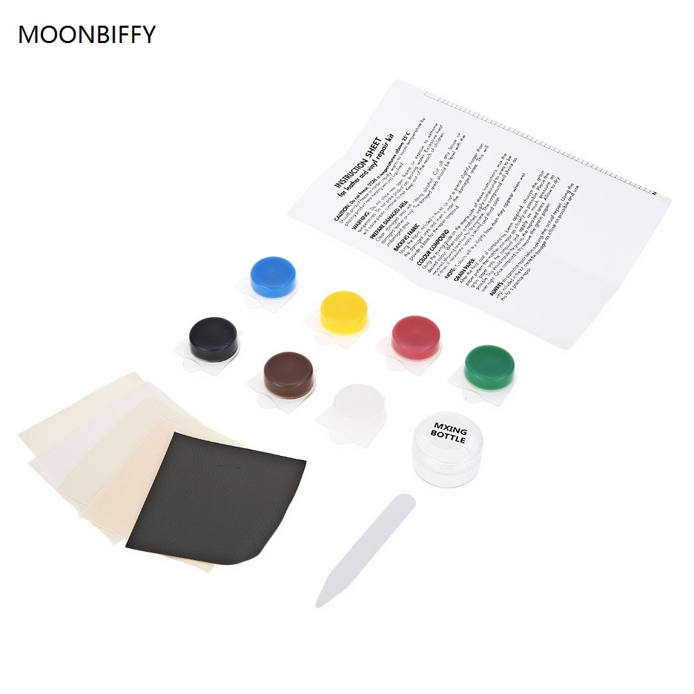 MOONBIFFY Auto Car Seat Sofa Crack Rip No Heat Liquid Leather Vinyl Repair Kit