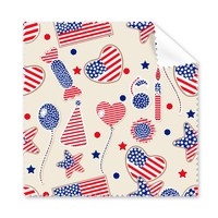 5 Pcs America Balloon Candy Love Heart Flag Star Festival Glasses Cleaning Cloth Phone Screen Cleaner