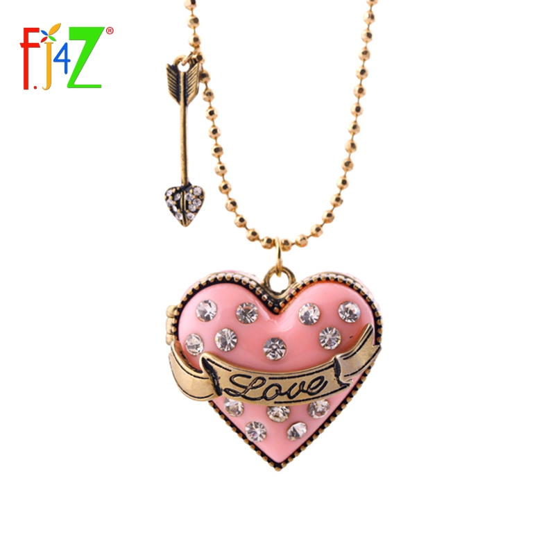 2017 christmas gifts fashion vintage LOVE heart locket box womens long sweater chain collar necklaces & pendants bijoux
