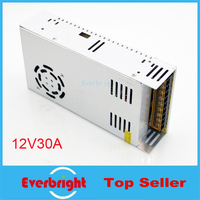 Free Shipping 12V 30A 360W Switch Power Supply Switching Driver for LED Strip Light Display 110V 220V Hot Sale