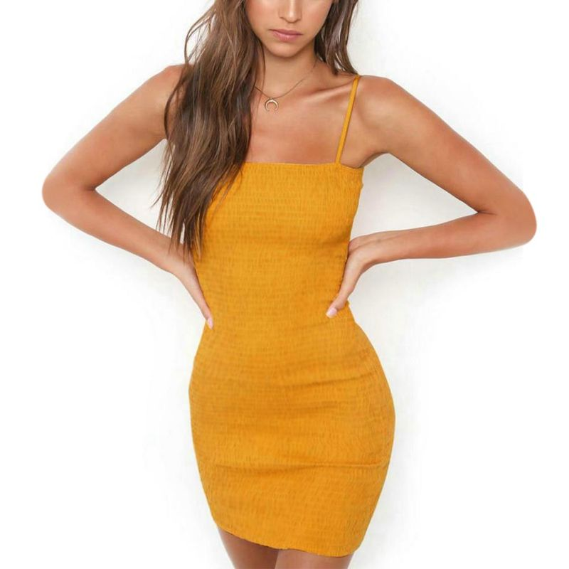 US $4.51 20% OFF|New Sexy Bodycon Yellow
