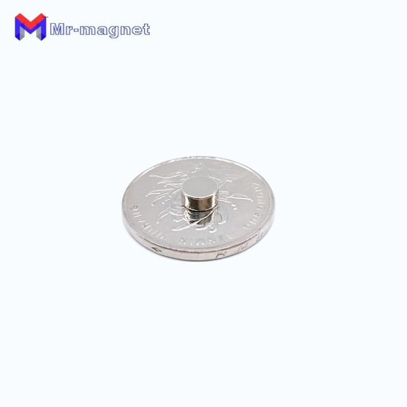 Купить с кэшбэком 2000pcs 6 x 4 mm magnet 6 x 4 N50 Super Strong Rare Earth Magnet Small Round Powerful Neodymium Magnet Fridge n50 6x4mm d6*4mm