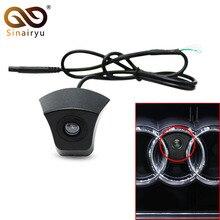 CCD HD камера переднего вида с ночным видением для Audi с логотипом, камера для Audi A1 A3 A4 A5 A6 A7 Q3 Q5 Q7 TT, фронтальная камера