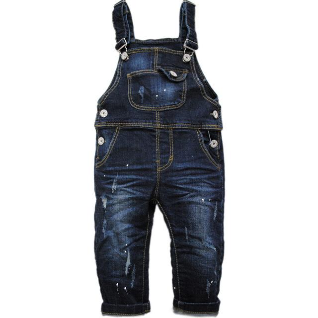6025 Macacão de bebê pouco frouxa Macacão meninos & meninas chaves calças moda casual azul marinho primavera outono crianças baby & baby nova