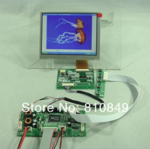 Details about  VGA+2AV+Audio+Reversing Lcd driver board+5.6inch AT056TN52 640*480 Lcd Panel vga 2av revering driver board 8inch 800 600 lcd panel ej080na 05b at080tn52