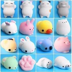 Brinquedo mole animal bonito anti-stress bola squeeze mochi brinquedos de elevação abreact macio pegajoso squishi alívio do estresse brinquedos engraçado presente