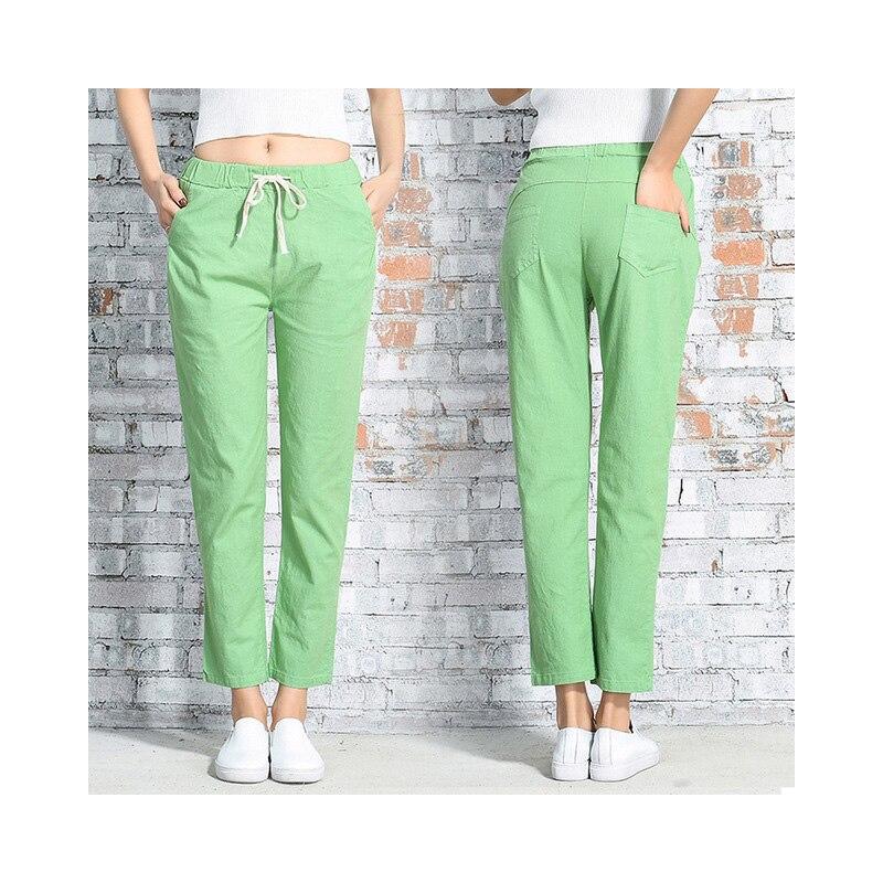 Soossn Cotton Linen   Pants   for Women Trousers Loose Casual Solid Color Women Harem   Pants   Plus Size   Capri   Women's Summer