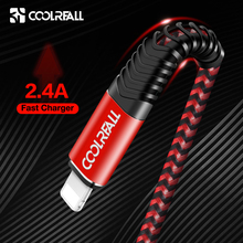 Coolreall USB Cable for iPhone Xs max Xr X 8 7 6 plus 6s 5 s iPad 2.4A Fast Charging Cord Mobile Phone Usb Data