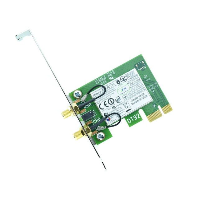 US $13 94 |AR9280 PCI E 1x 300Mbps AR5BDT92 2 4&5G 4x 16x 802 11abgn WiFi  Network Card for Desktop PC Hackintosh Mac OS-in Network Cards from  Computer