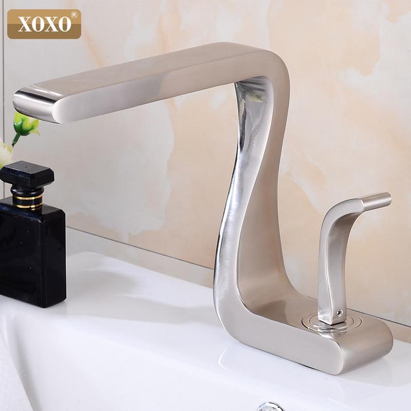 XOXO Bacia Torneira de Bronze Preto Quente e Fria Único Punho Bacia Toque Mixer Deck Montado Torneiras de Banheiro Torneira Da Pia 21035
