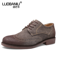 US6 11 Mens Genuine Leather Lace Up Brogue Shoes Retro Wing Tips Oxfords Casual Carved Dress