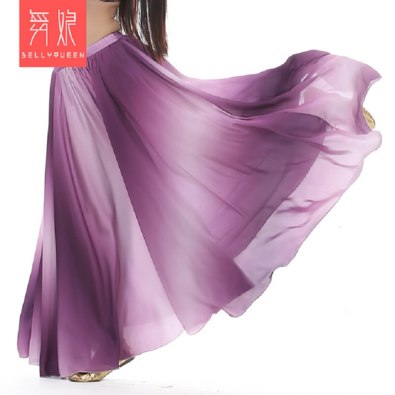 Belly Dance Skirt Women Fashion Gradient Color Skirts  Professional Belly Dance Costume Stage Performance Skirt
