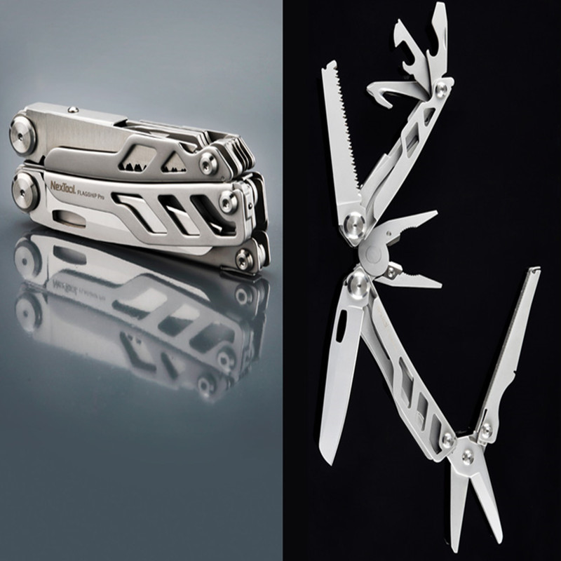 16 IN 1 Multi Functional Pliers Folding EDC Hand Tool Stainless Steel Knife Screwdriver Tools for