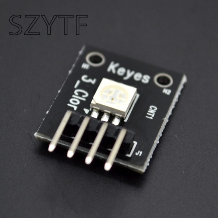 10pcs KEYES 3 color full color LED smd module controllable colorful lights KY-009(China)