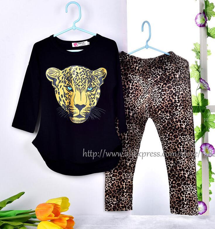 CNJiaYun Girls apģērbu komplekti Toddler Leopard Pattern Girls - Bērnu apģērbi - Foto 3