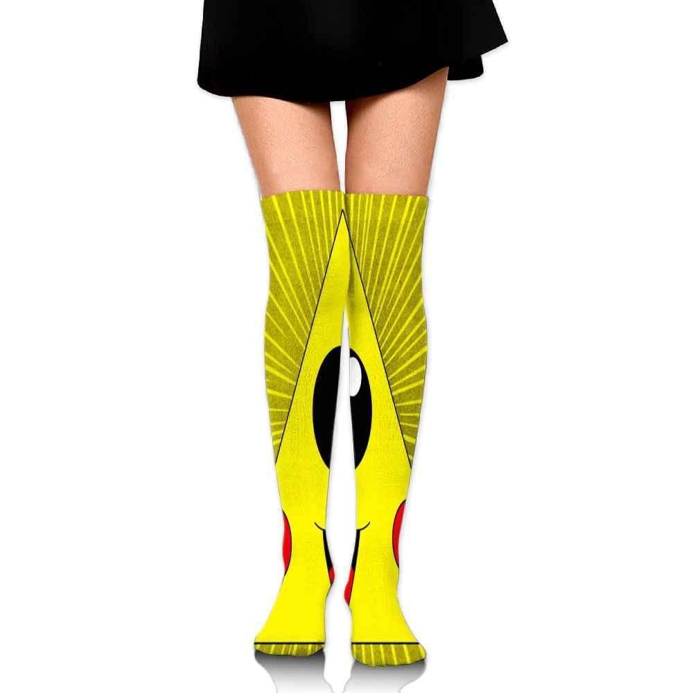 SAMCUSTOM студенческое Платье До Колена Носки для девочек для женщин хлопок выше колена чулки для дам любовь illuminati Бог 3D Длинные