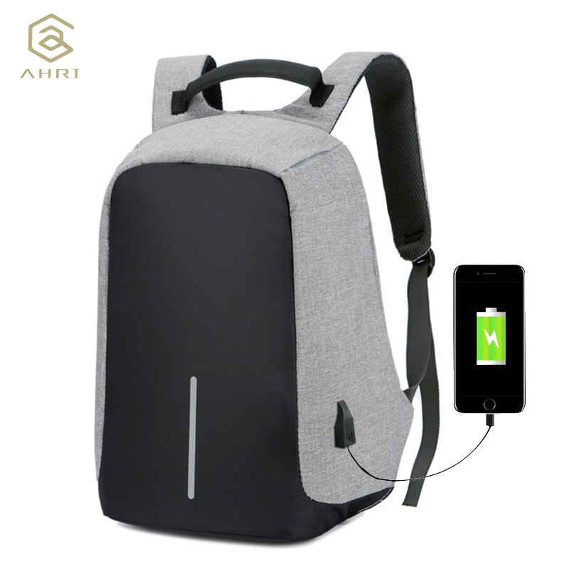 AHRI Anti-theft Backpack Book Bags for School Backpack Casual Rucksack Daypack Oxford Canvas Laptop Fashion Man USB Backpacks men usb charge backpack anti theft laptop backpacks large capacity fashion school bags boys teenager casual rucksack bag bp0165