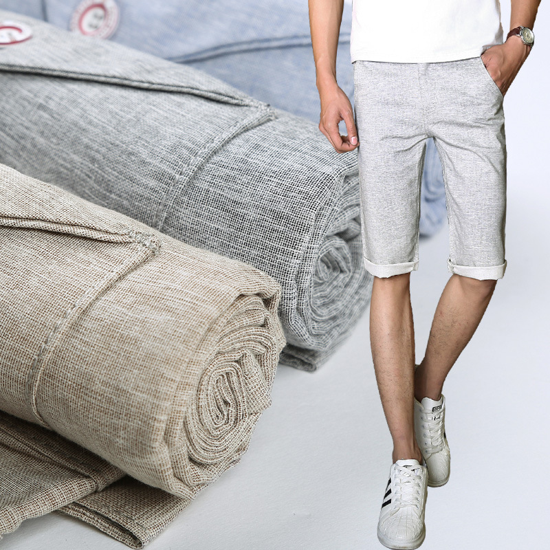 2018 summer thin tux linen shorts youth cultivate ones morality leisure straight shorts