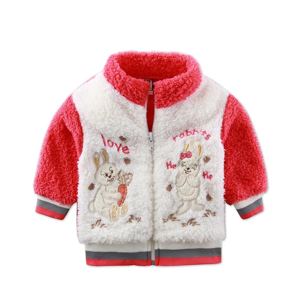 2018 New Style Winter Baby Long Sleeve Coral Fleece Jacket Kids Hooded Zipper Coats Newborn Coat Boys 3 to 9 months Clothes stylish long sleeve fleece lined hooded coat for women