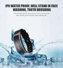 Новинка 2017 года модель Смарт-фитнес браслет часы браслет miband OLED Touchpad сна Мониторы сердечного ритма I8 Smart Band I8 PK B3 +