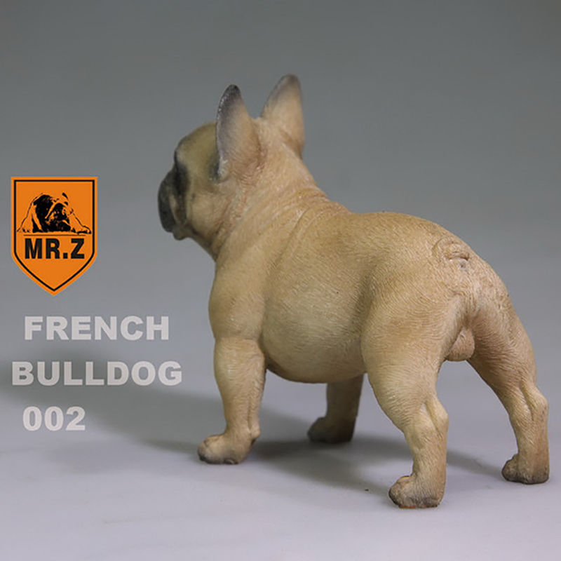 1/6 Scale Brown Color Mr Z French Bulldog Puppy Dog 002 Simulation Animal Pet TOY PARTS Resin for 12Action Figure Scene annex