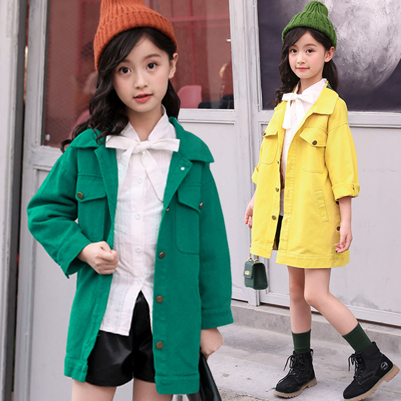 2018 Trench Coat For Girls Jacket Autumn New Fashion Preppy Style Toddler Girls Windbreaker For Kids Clothes Baby Girls Outwear yp176140 autumn clothes for girls coat baby jacket for girls jacket kids jacket fashion baby girl clothes windbreaker children