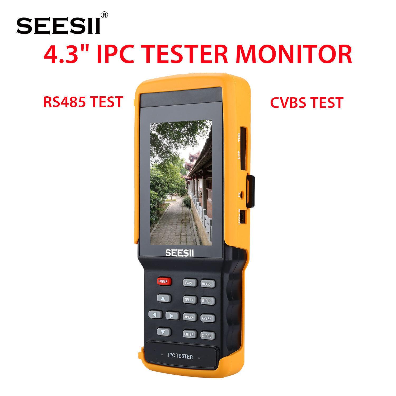 SEESII IPC9300S 4.3 Tester Monitor 1080P IPC/CCTV/IPS Camera CVBS PTZ Discovery Portable Control Horizontal Vertica WIFI 8GB
