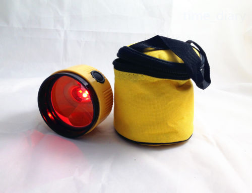yellow Single Prism with lamp for Topcon Nikon Sokkia Total Station*glint light* цена