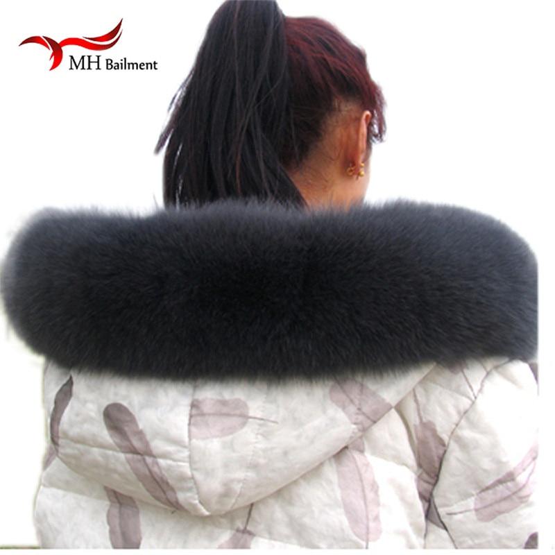 Tmavě šedá liška Zimní dámská liška z kožešinového límce - Příslušenství pro oděvy